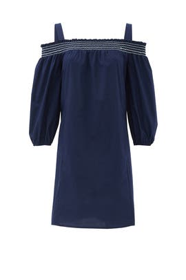 Navy Sangah Dress by Shoshanna