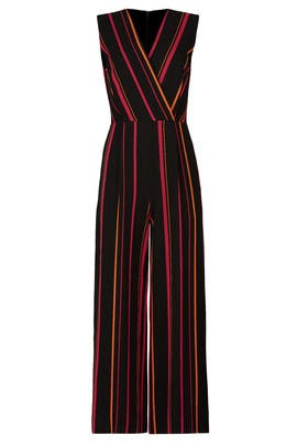 Striped Crossover Jumpsuit by Diane von Furstenberg