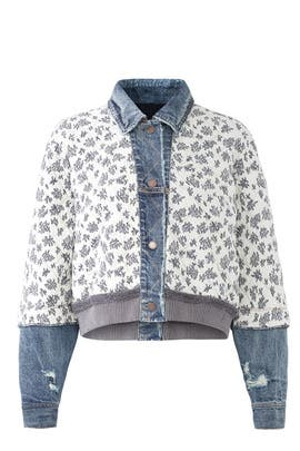 Distressed Ditsy Denim Jacket by Free People