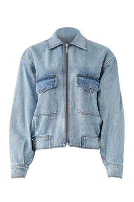 Oversized Denim Jacket by Jason Wu Grey