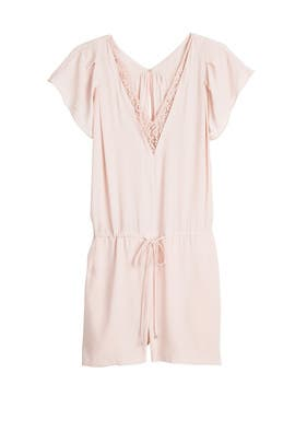 Blush Plunge Romper by Rebecca Taylor