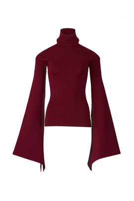 Maroon Lydie Top by Solace London