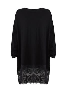 Laced Hem Nero Dress by Twinset