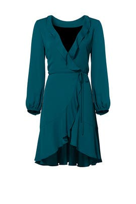 Teal Wrap Dress by Amanda Uprichard
