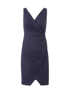 Navy Ruched Maternity Dress by Slate & Willow