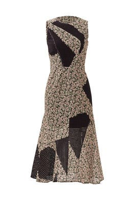 Geo Patchwork Dress by Cedric Charlier