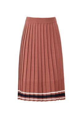 Pink Pleated Knit Skirt by J.O.A.