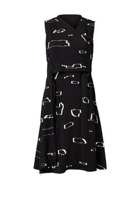 Ripple Print Black Dress by Proenza Schouler