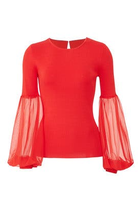 Red Elsie Knit Top by Sachin & Babi