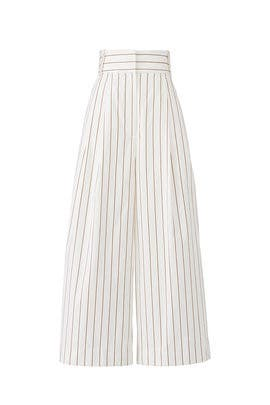Striped Crop Pants by Tibi