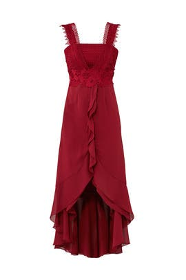 Bordeaux Flowy Dress by UnitedWood