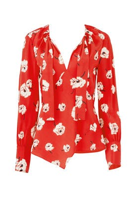 Clay Red Blouse by Derek Lam 10 Crosby