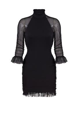 Black Spot Mesh Dress by Nicholas