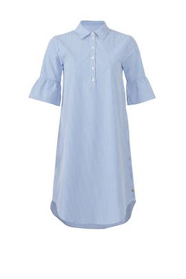 Blue Ruffle Sleeve Shirtdress by Scotch & Soda