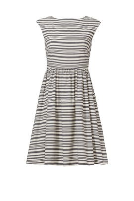 Little Lines Bow Dress by Slate & Willow