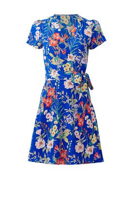 Blue Kennedy Wrap Dress by Yumi Kim