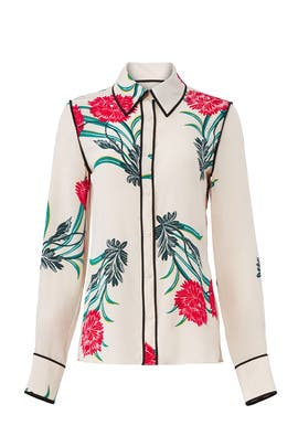 Farren Pearl Collared Shirt by Diane von Furstenberg