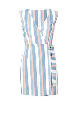 Striped Instinct Wrap Dress by FINDERS KEEPERS