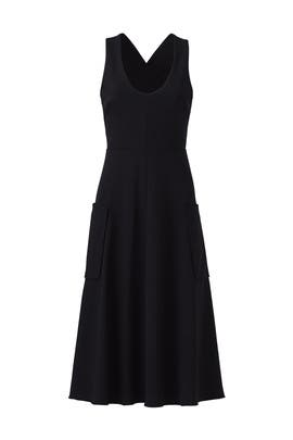 Black Deep Pocket Dress by Tibi