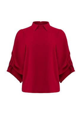 Ruby Top by Badgley Mischka