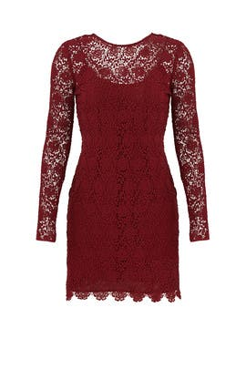 Burgundy Mena Dress by Shoshanna