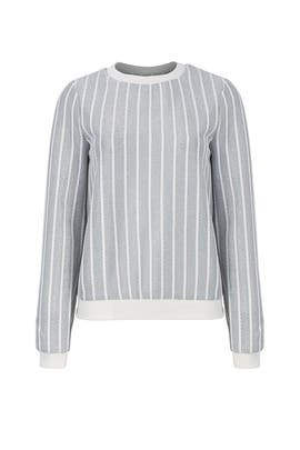 Striped Metallic Sweater by English Factory