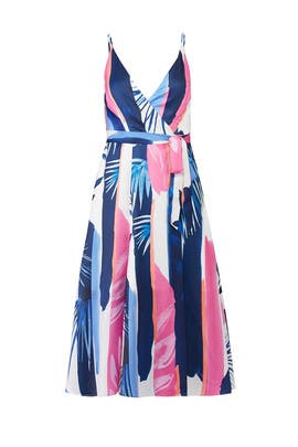 Abstract Leah Wrap Dress by Hutch