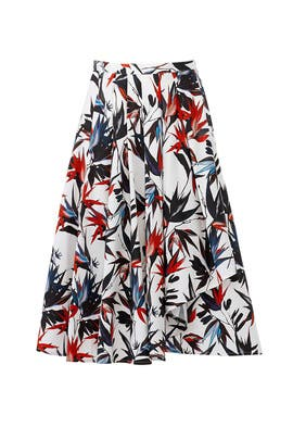 Printed Cascade Skirt by Jason Wu