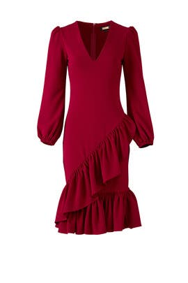 Red Ruffle Dress by Alexia Admor