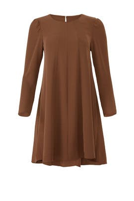 Brown Wendy Dress by Amanda Uprichard