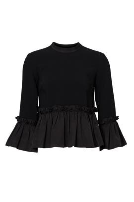 Black Pearl Ruffle Top by Cinq à Sept