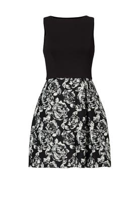 Black Printed Emily Dress by Hutch