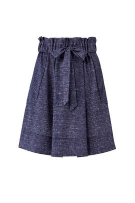 Denim Gathered Kori Skirt by Milly