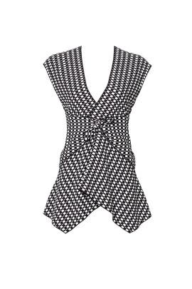 Black and White Checked Knot Top by Proenza Schouler
