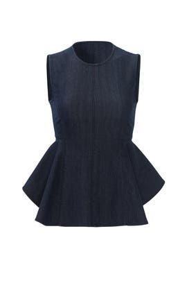 Denim Peplum Shirt by Theory