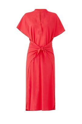 Red Wrap Front Dress by VINCE.
