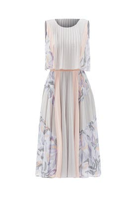 Ola Pleated Dress by BCBGMAXAZRIA