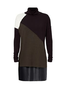 Olive Colorblock Sweater Dress by Bailey 44