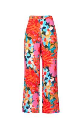 Floral Arlene Pants by Mara Hoffman