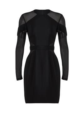 Black Mesh Hall Dress by Jay Godfrey