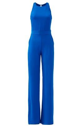 Classic Blue Silvia Solid Jumpsuit by Karina Grimaldi