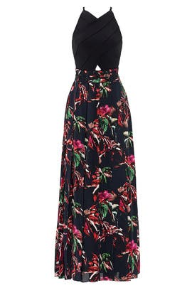 Tropical Floral Print Maxi Dress by Proenza Schouler