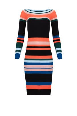 Rays Of Stripes Dress by StyleKeepers