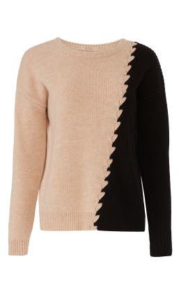 Camel And Black Dante Sweater by Tabula Rasa