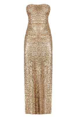 Gold Glitterati Gown by Badgley Mischka