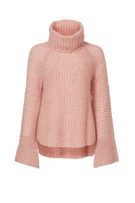 Rose Quartz Turtleneck Sweater by CALYPSO St. Barth