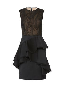 Ruffled Illusion Dress by Jason Wu