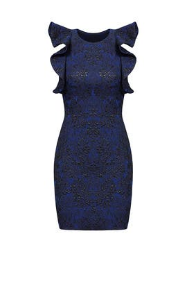 Blue Ruffle Splatter Dress by Parker