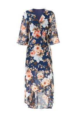 Navy Midi Wrap Dress by Slate & Willow