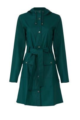 Teal Curve Jacket by RAINS
